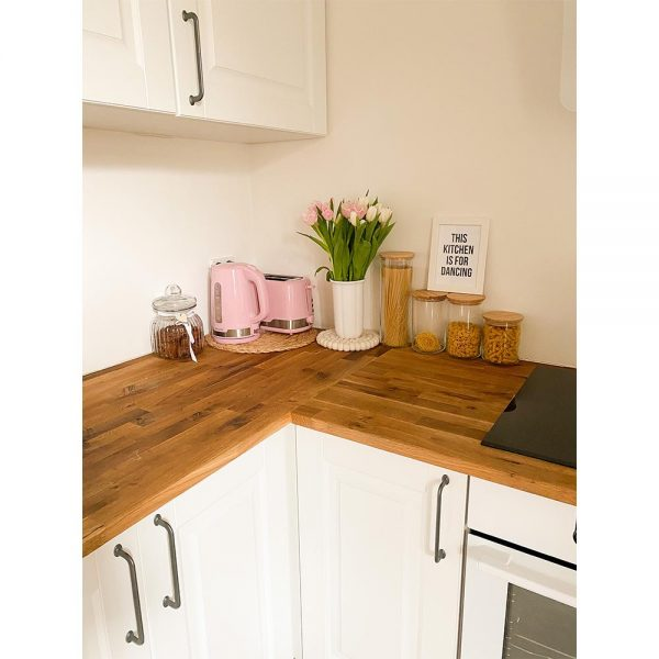 Haarlem oil used on wooden kitchen counter